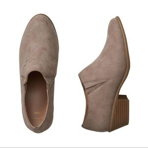 GAP Taupe Suede Ankle Booties Tan Boots